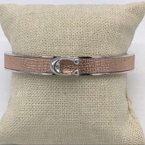 Coach Rose Gold Silver Magnetic Hinged Bracelet
